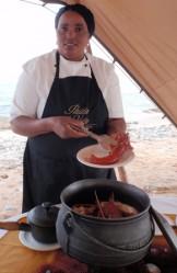 crayfish lunch on beach 1